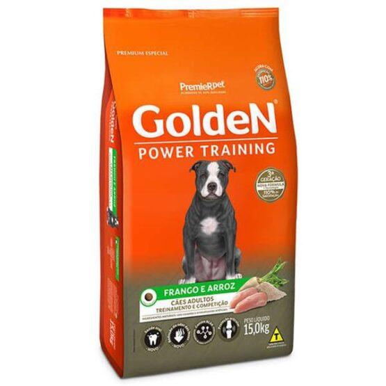 Ração Golden Power Training para Cães Adultos Sabor Frango e Arroz – 15kg