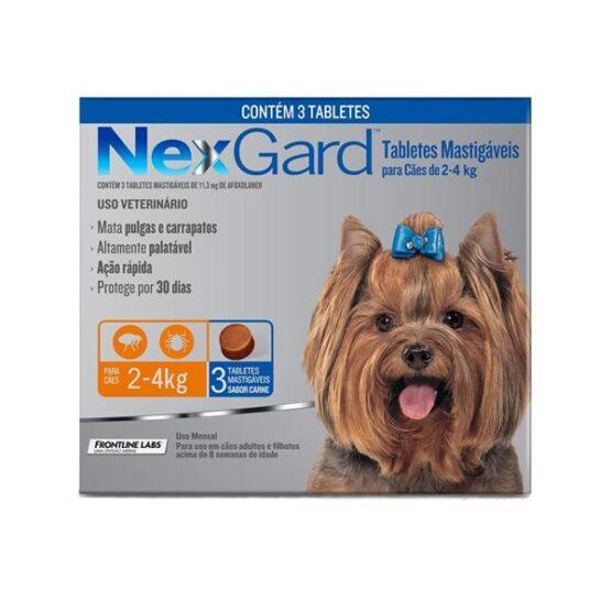 Antipulgas e Carrapatos Nexgard para Cães de 2 a 4 kg