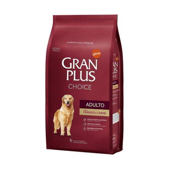 Ração Gran Plus Choice Frango e Carne para Cães Adultos – 15kg
