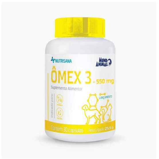 Suplemento Nutrisana Omex 30 Cápsulas para Cães e Gatos