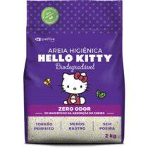 Areia Higiênica Biodegradável Grossa para Gatos Hello Kitty Roxa - 2kg-2084178232