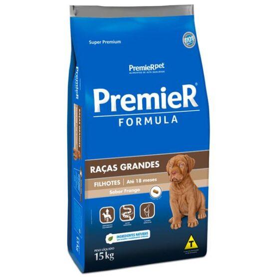 Ração Premier Fórmula para Filhotes de Raças Grandes Sabor Frango – 15kg