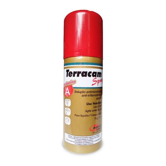 Anti-Inflamatório Antimicrobianos Terracam Spray 125ml