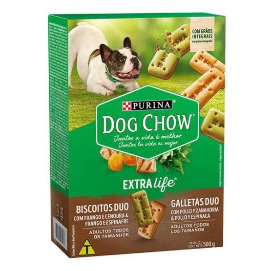 Biscoito Dog Chow DUO para Cães 500G