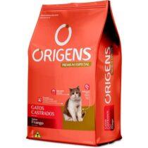 Ração Origens para Gatos Castrados sabor Frango 10,1Kg-910107172