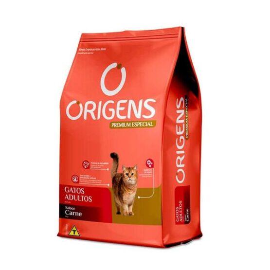 Ração Origens para Gatos Adultos sabor Carne 10,1Kg