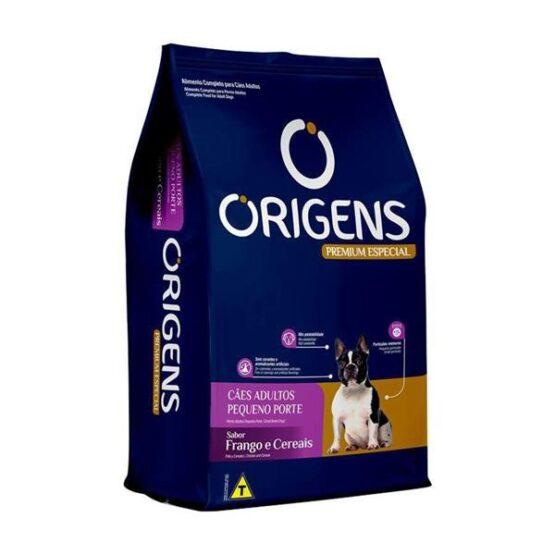 Ração Origens para Cães Adultos de Raças Pequenas sabor Frango e Cereais 10 Kg