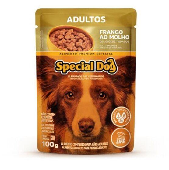 Ração Úmida Special Dog Sachê para Cães Adultos Sabor Frango 100g