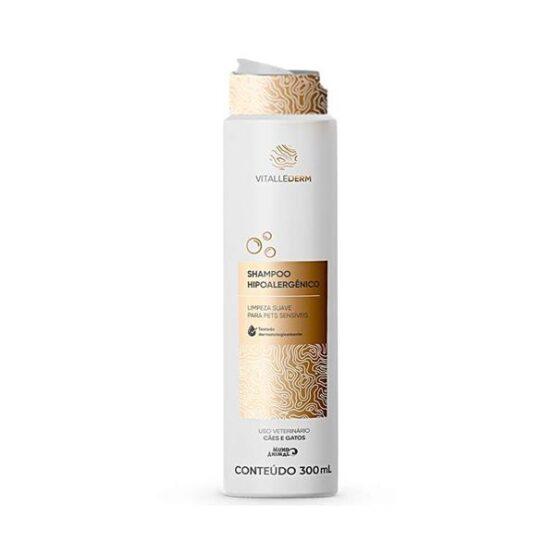 Shampoo Vitallederm Hipoalérgico para Cães e Gatos 300ml
