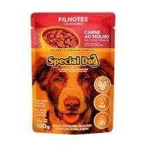 Ração Úmida Special Dog Sachê para Cães Filhotes Sabor Carne 100g-134198177