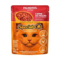 Ração Úmida Special Cat Sachê para Gatos Filhotes Sabor Carne 85g-447018241