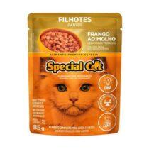 Ração Úmida Special Cat Sachê para Gatos Filhotes Sabor Frango 85g-1836040089