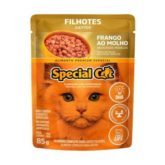 Ração Úmida Special Cat Sachê para Gatos Filhotes Sabor Frango 85g