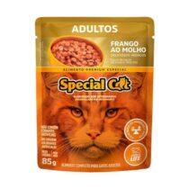 Ração Úmida Special Cat Sachê para Gatos Adultos Sabor Frango 85g-477520865