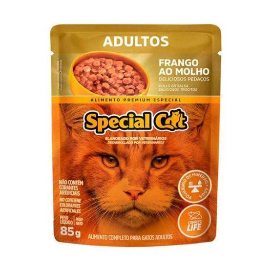 Ração Úmida Special Cat Sachê para Gatos Adultos Sabor Frango 85g