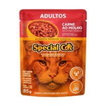 Ração Úmida Special Cat Sachê para Gatos Adultos Sabor Carne 85g-1050800138