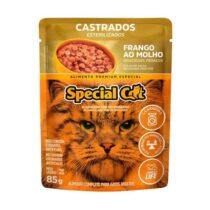 Ração Úmida Special Cat Sachê para Gatos Castrados Sabor Frango 85g-1836000435