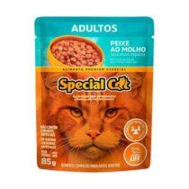 Ração Úmida Special Cat Sachê para Gatos Adultos Sabor Peixe 85g-1228546714