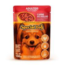 Ração Úmida Special Dog Sachê para Cães Adultos Raças Pequenas Sabor Carne 100g-513755925