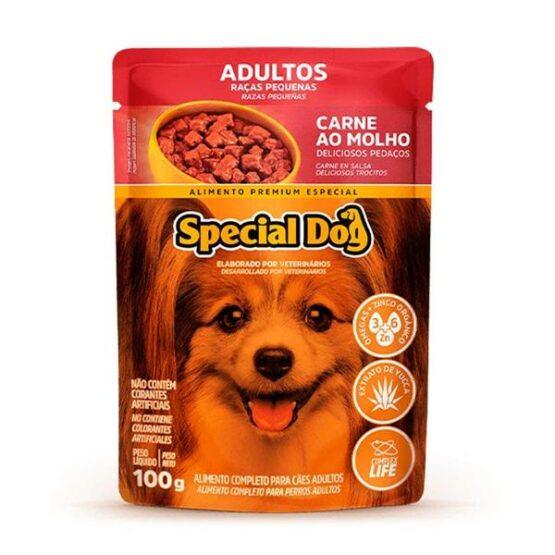 Ração Úmida Special Dog Sachê para Cães Adultos Raças Pequenas Sabor Carne 100g