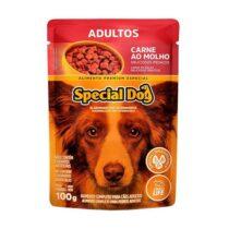 Ração Úmida Special Dog Sachê para Cães Adultos Sabor Carne 100g-9884110