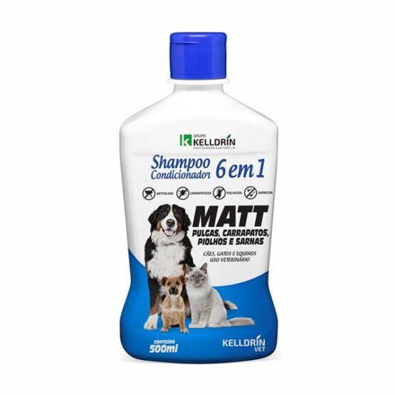 Shampoo e Condicionador Antiparasitário 6X1 MATT – 500ML