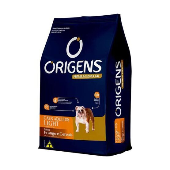 Ração Origens para Cães sabor Frango e Cereais Light – 1kg
