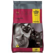 Ração Three Cats Original Sabor Carne para Gatos Adultos Castrados - 3kg-162898374