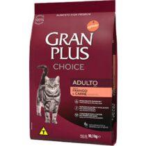 Ração Gran Plus Choice Frango e Carne para Gatos Adultos - 10,1kg-195103832