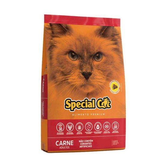 Ração Special Cat carne Premium para Gatos Adultos 10,1kg