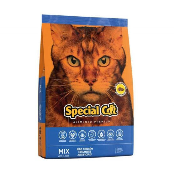 Ração Special Cat Mix Premium para Gatos Adultos 10,1kg