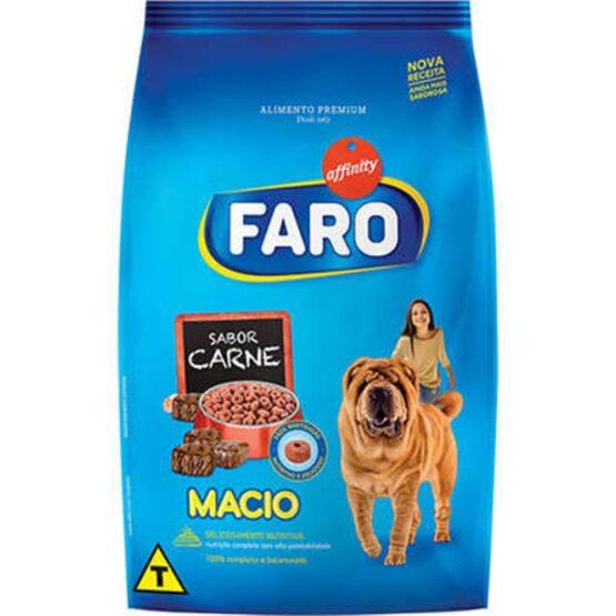 Ração Faro para Cães Adultos Super Macio Sabor Carne 900g