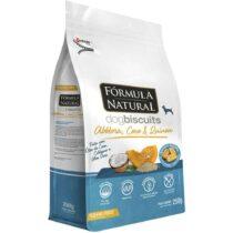 Fórmula natural Dog Biscuits para cães adultos de pequeno porte abobora coco e quinoa 250g-2130739357