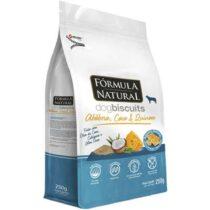 Fórmula natural Dog Biscuits para cães adultos  abobora coco e quinoa 250g-753564330